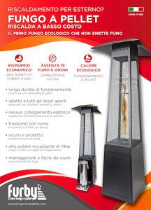 depliant fungo a pellet riscaldamento esterni basso consumo vendita